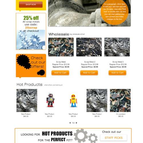 MetalScrap List awaits for your creative Web Design Skills!