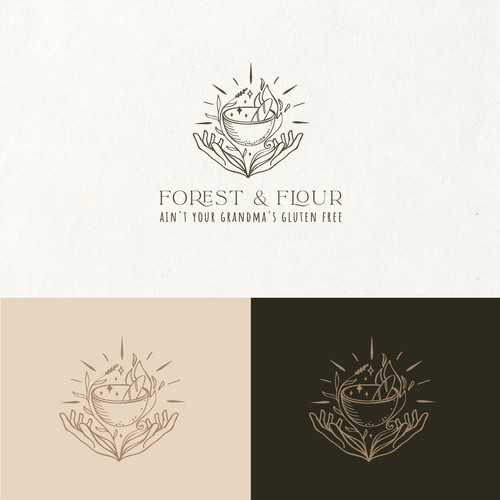 Forest and flour logo design