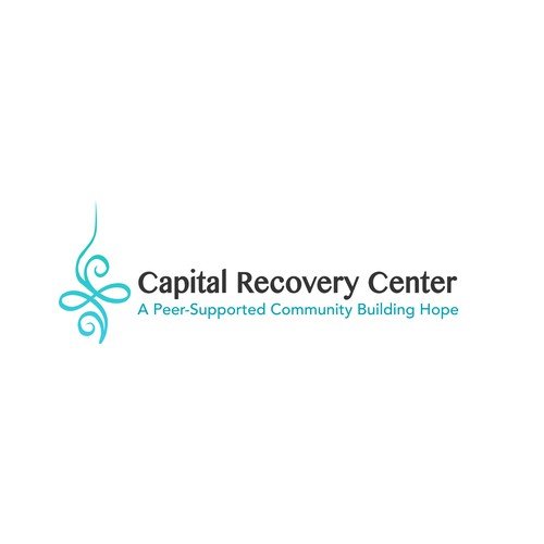 Colour logo concept for mental health recovery center