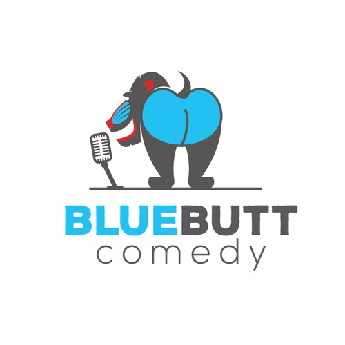 Logo for BlueButt Comedy