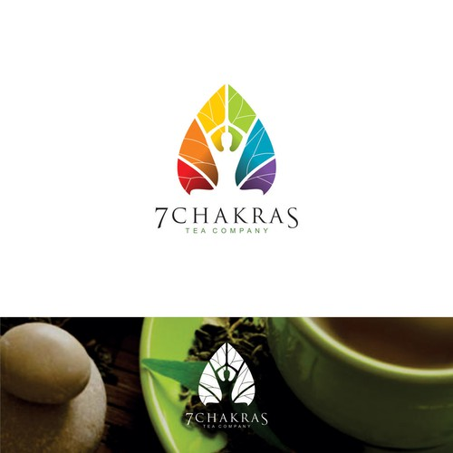 My logo concept for 7 Chakras, tea company
