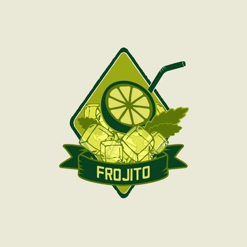 Logo design concept for a bar serving frozen mojitos