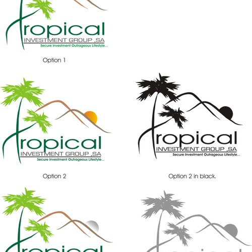 Urgent $300 Logo for Tropical Investment Group