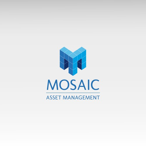 logo and business card for Mosaic Asset Management