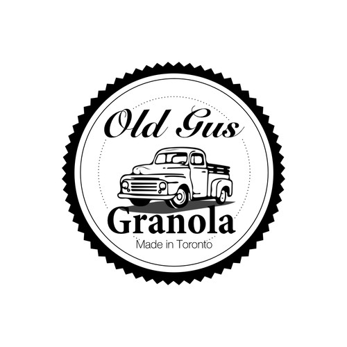 Create a classic logo with illustration of vintage Ford truck