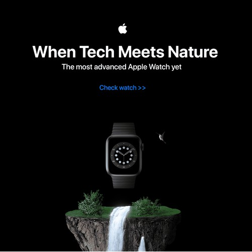 Banner for Apple - Experiment