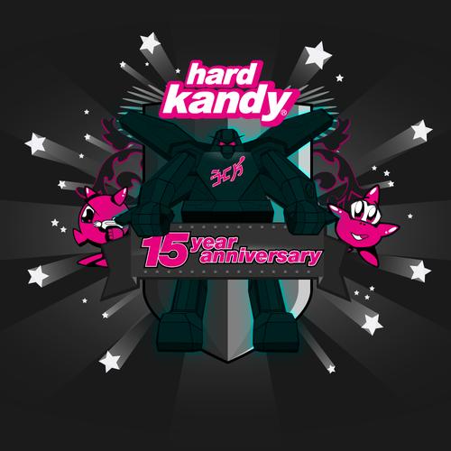 hard kandy 15 year anniversary emblem