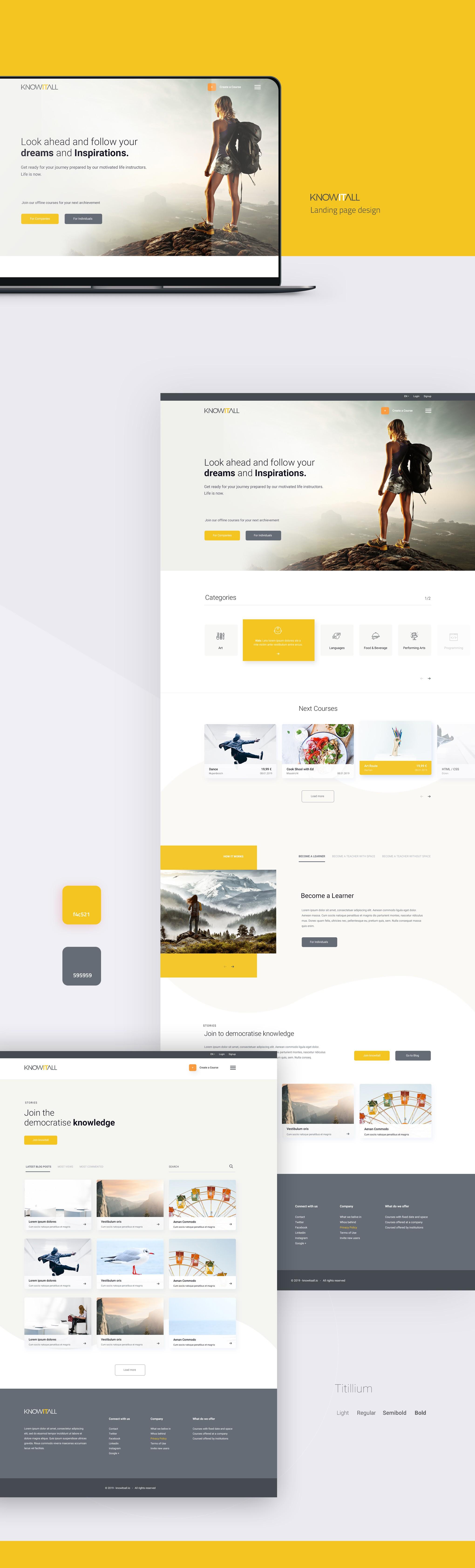 Inspirational webdesign needed for funded startup.