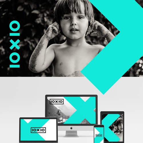 Edgy brand identity for 10x10
