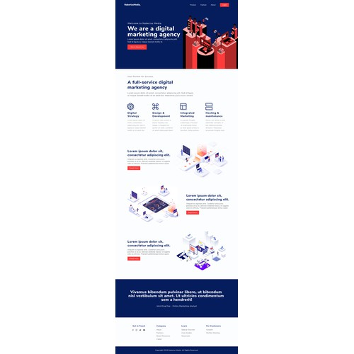Landing page for digital marketing agency