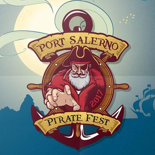 Logo for annual pirate festival.
