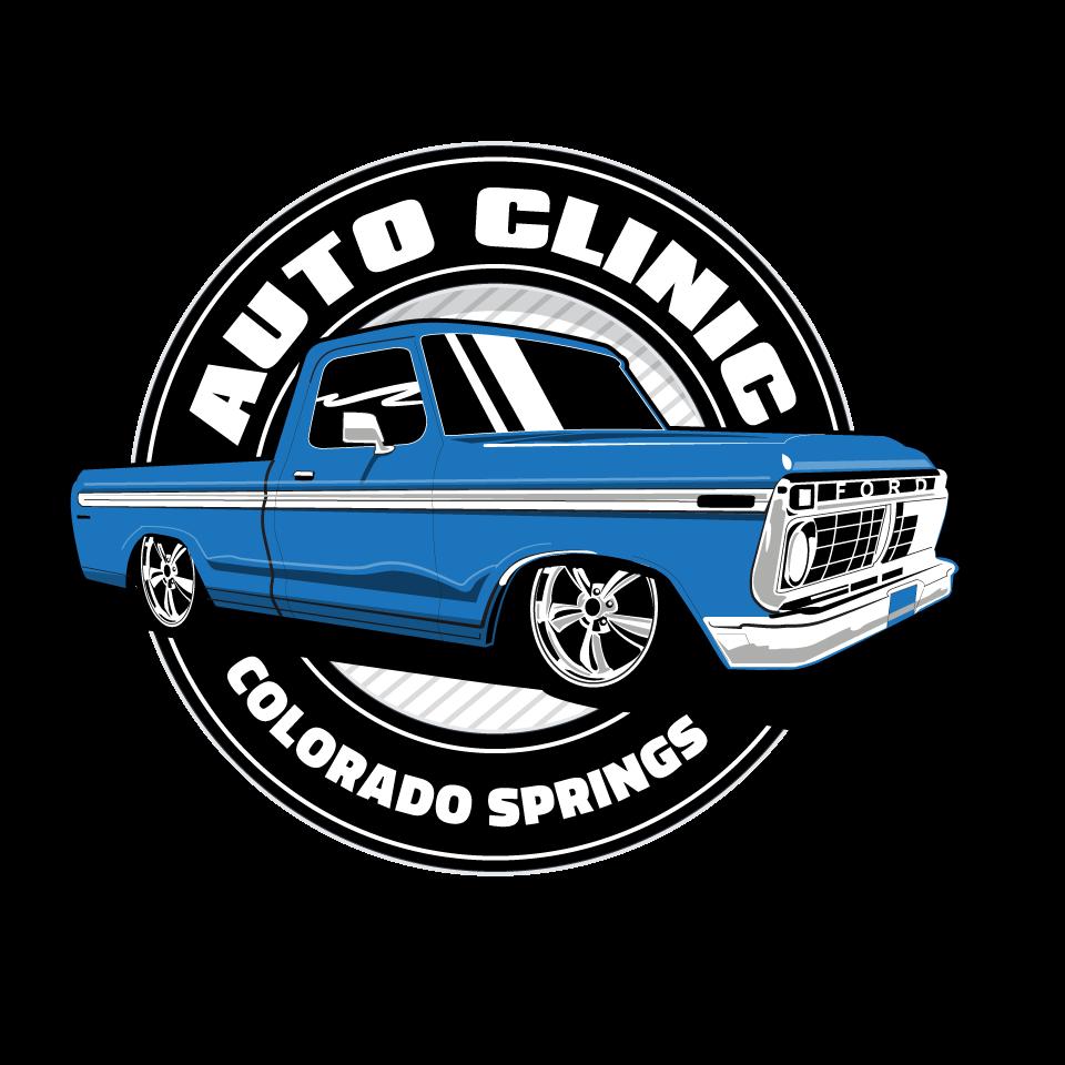 Create a vintage auto repair shop logo for Auto Clinic
