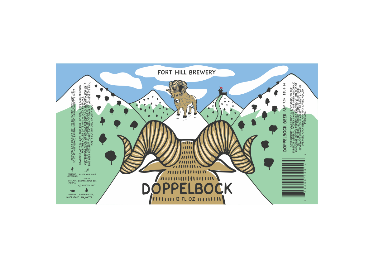 Doppelbock can label