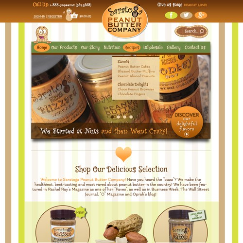 E-Commerce Website for Peanut Butter Company
