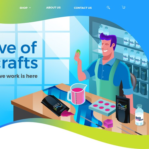 banner landing page for maplecrafts