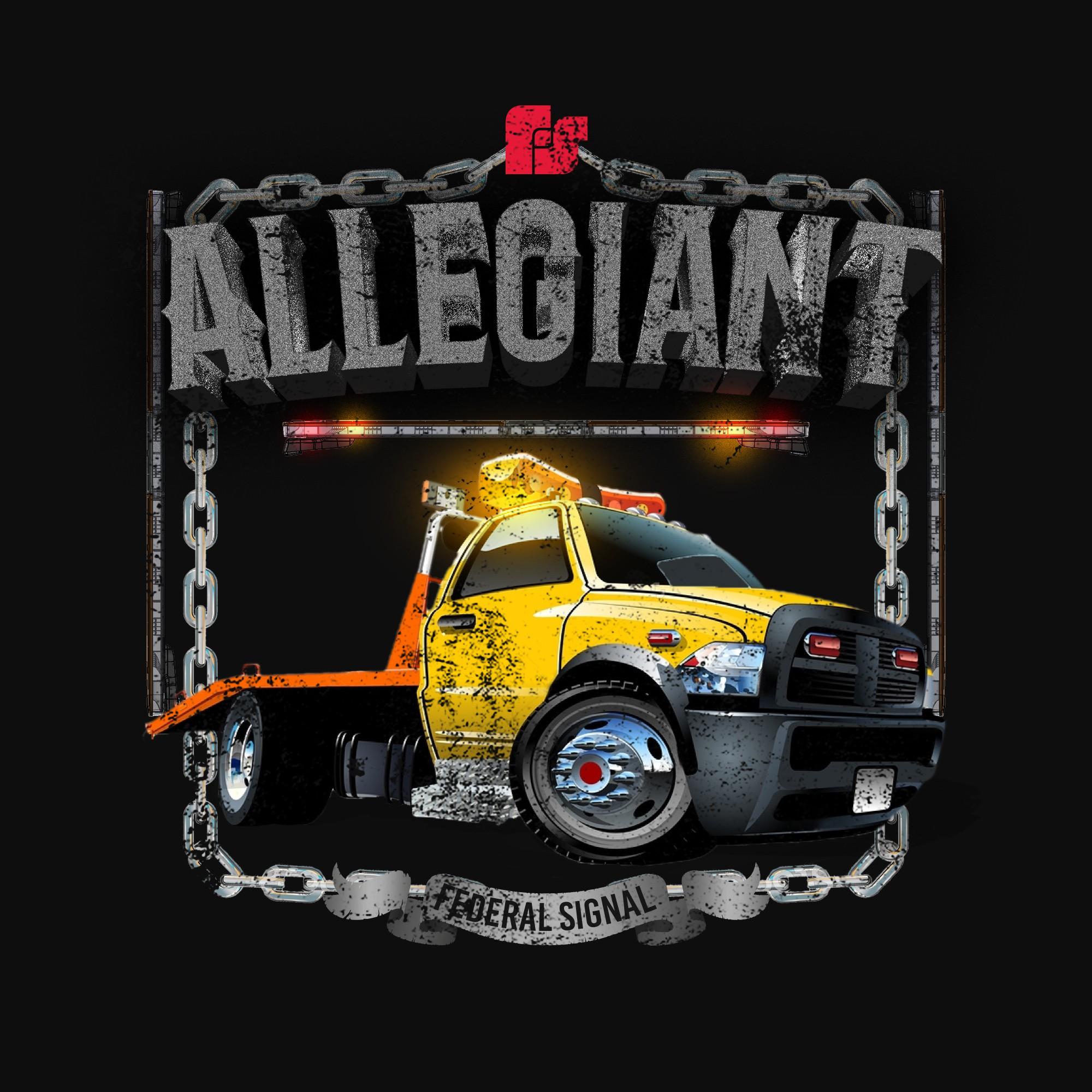Emergency vehicle lightbar t-shirt design