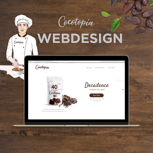 Chocolate website design for cocotopia.com