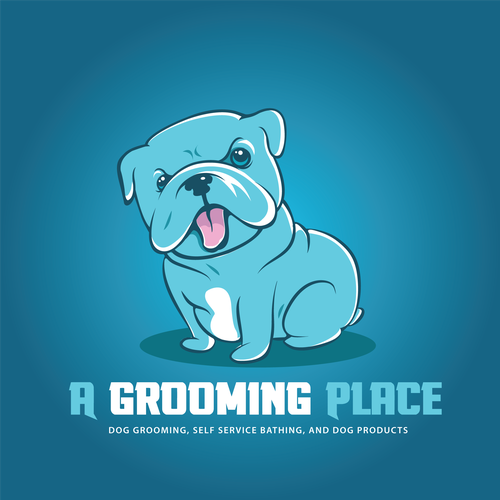 cartoon logo for A GROOMING PLACE