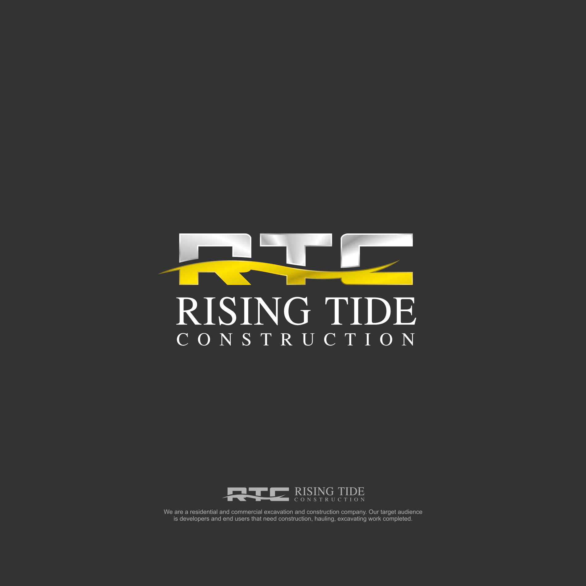 New Construction/Excavating company needs awesome logo! RISING TIDE CONSTRUCTION