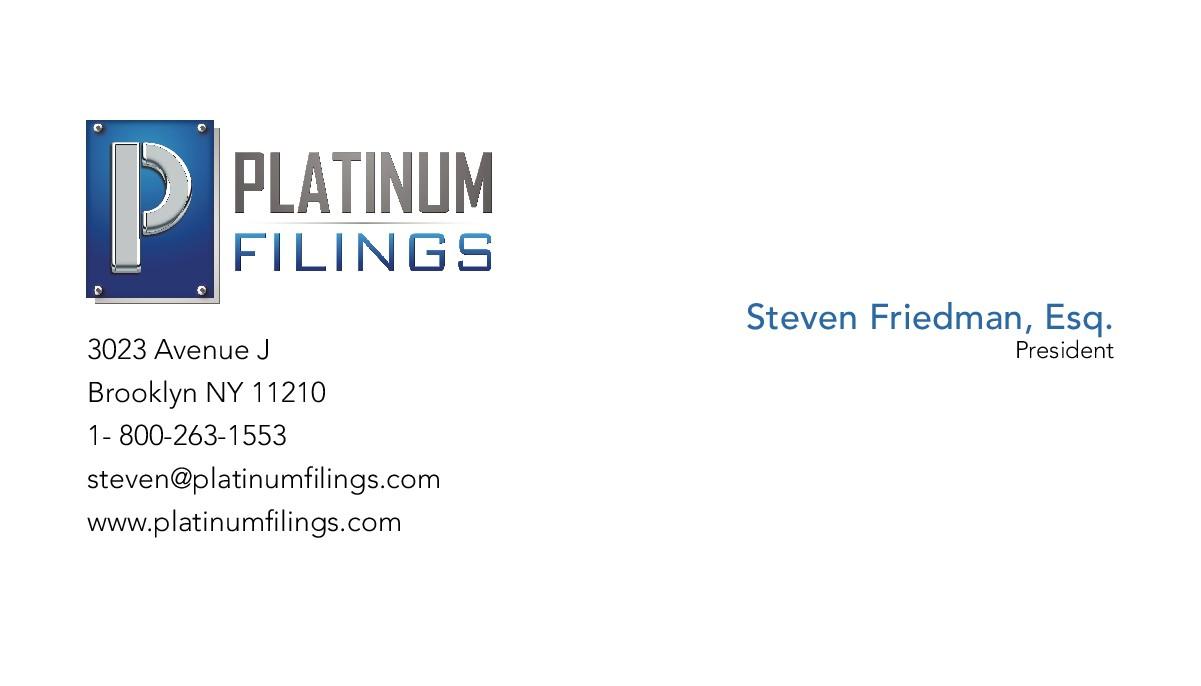 business card design platinum filings
