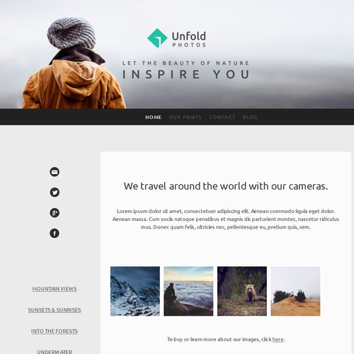Logo & Website project using a Jimdo template