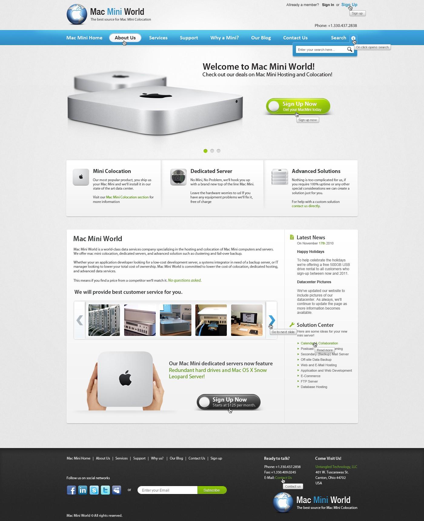 Mac Mini World needs a new website design