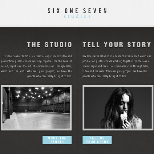 Website Design for a Film Studio - Six One Seven Studios