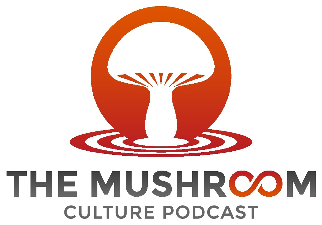 Create a logo for the world's first mushroom podcast!