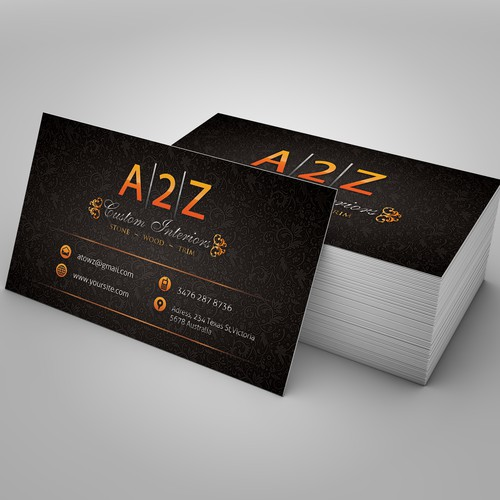 A2Z Custom Interiors needs a new stationery