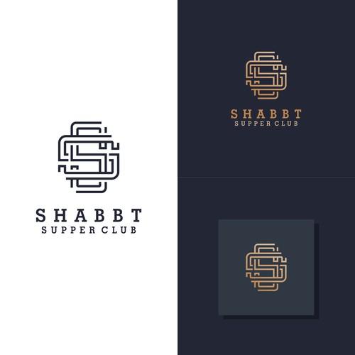 monogram logo for shabbt supper club