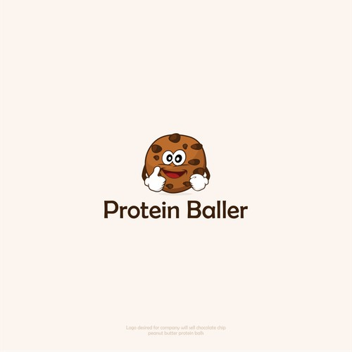 esign logo for startup selling protein peanut butter balls