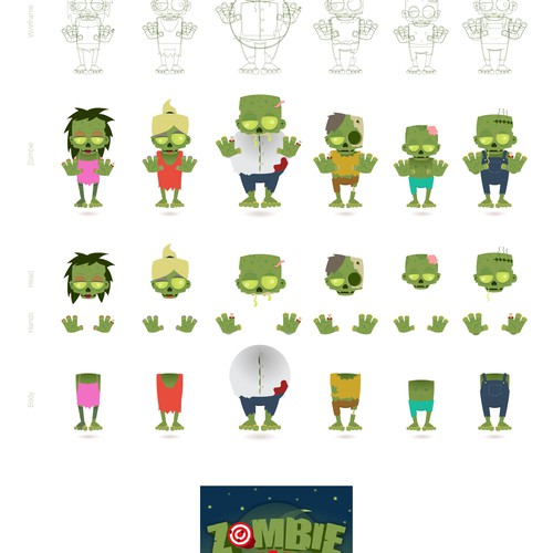 Zombie Mobile Game Graphics