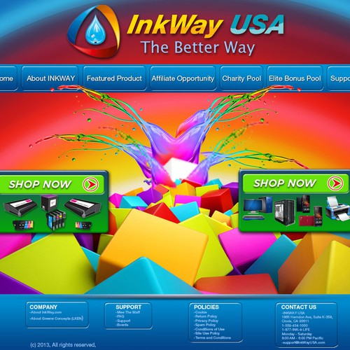 website design for INKWAY.COM