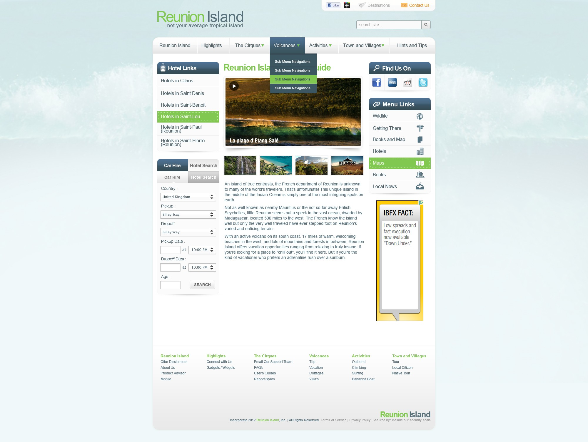 Reunion Island needs a new website design