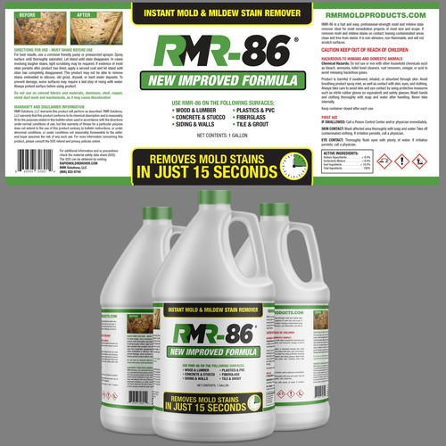 Label Design contest finalist for RMR-86