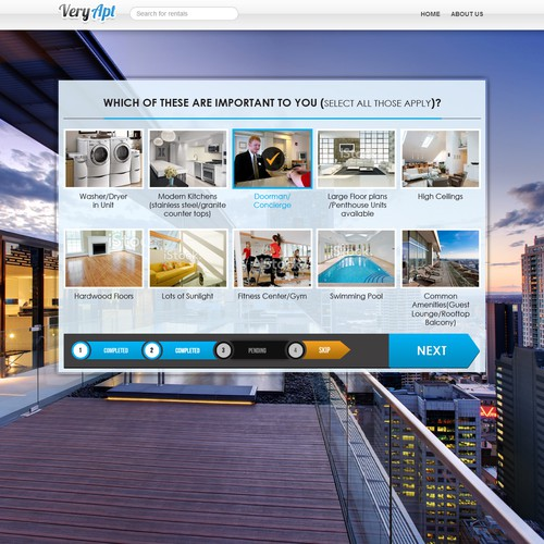 Design a winning On-boarding User Experience for VeryApt.com (Apartment search and reviews)