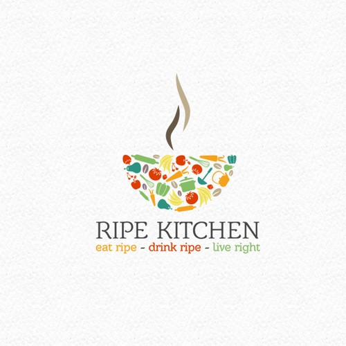 Logo for new Organic and Healthy Restaurant and Cafe