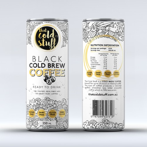Black Cold Brew Coffee