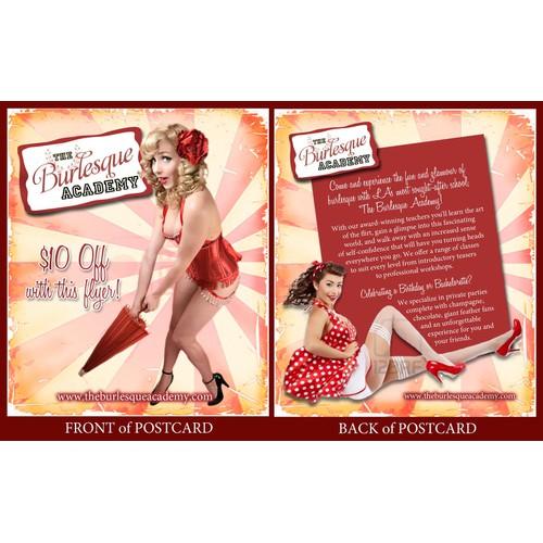 Burlesque Academy Postcard