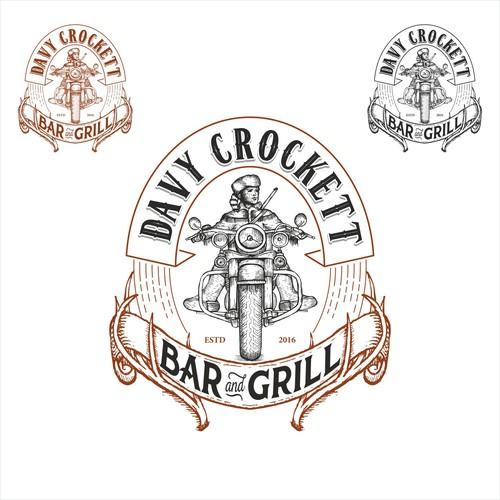 Davy Crocket bar & grill logo
