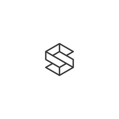 S Isometric Logo