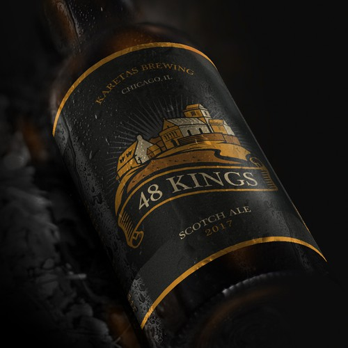 48 Kings label design