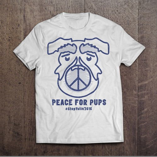 T-shirt for Anti-Dog Meat Festival in China.