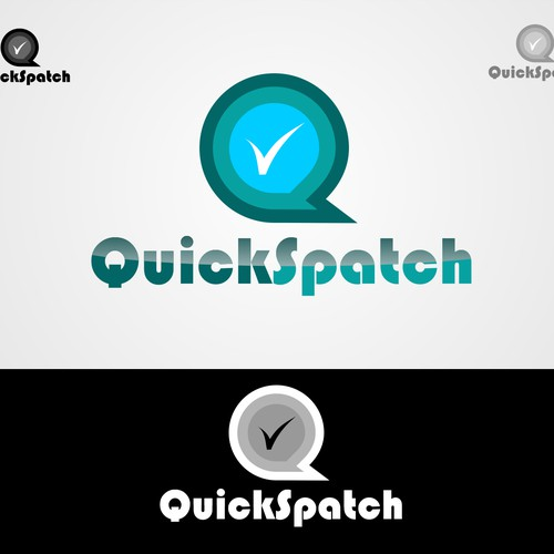 QuickSpatch - Simple, graphic logo design for a mobile dispatch application