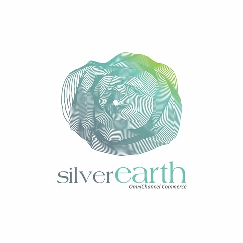 silver earth logo design