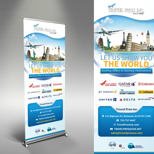 Travel Pros Stand Banner