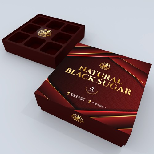 Black Sugar Packaging Box