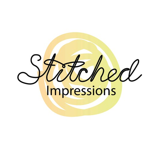Logo for a small embroidery business producing personalized embroidered products.