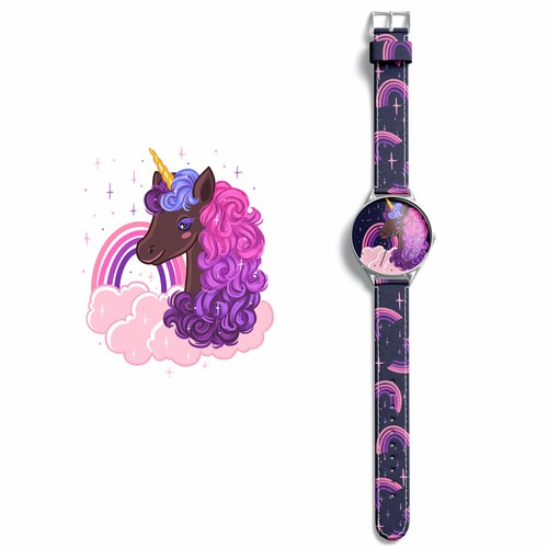 Illustration for children watch design