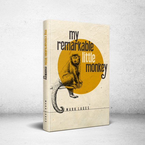 Book cover design for My Remarkable Little Monkey